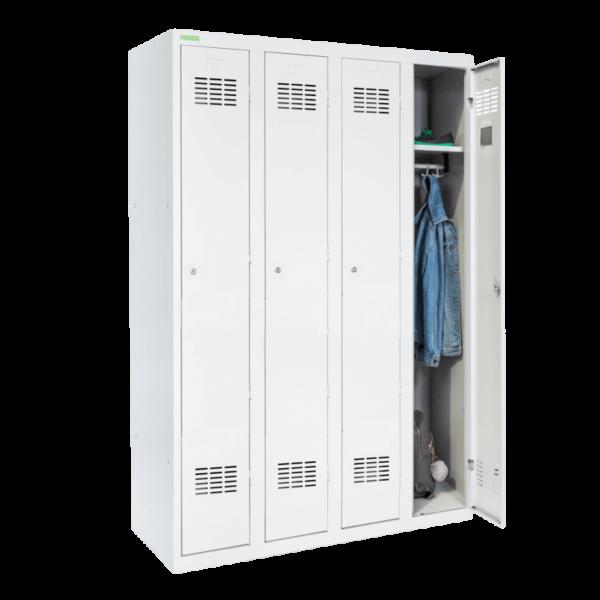 LOCKER H 4   4-dverová šatníková skriňa s dlhými dverami
