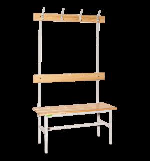 BRIDGE LL 1000 AH | Šatníková lavica s opierkou , vešiakmi a dĺžkou 1000 mm