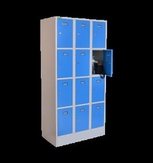 VBOX M 3/12 5012 | 12-priehradková skriňa na úschovu cenností-modrá