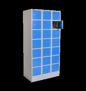 VBOX K 3/21 5012 | 21-priehradková skriňa na úschovu cenností-modrá