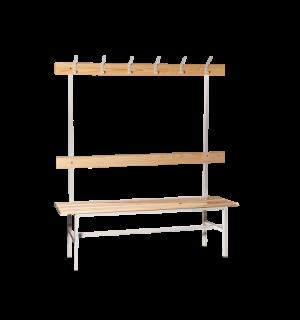 BRIDGE LL 1500 AH | Šatníková lavica s opierkou , vešiakmi a dĺžkou 1500 mm