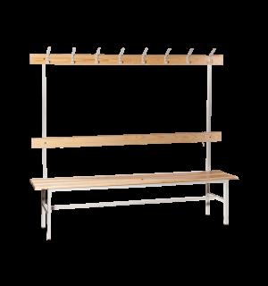 BRIDGE LL 2000 AH   Šatníková lavica s opierkou, vešiakmi a dĺžkou 2000 mm