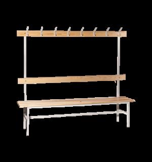 BRIDGE LL 2000 AH | Šatníková lavica s opierkou, vešiakmi a dĺžkou 2000 mm