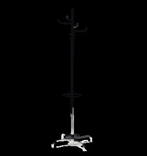 COATHANGER AP CHROM | Chrómovaný vešiak na kabáty s držiakom na dáždnik