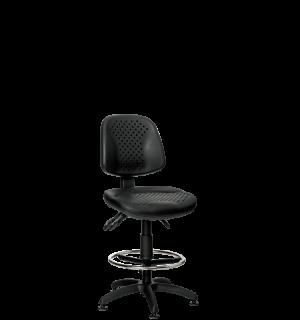 WORKSEAT MB COMFORT HIGH F | Priemyselná stolička s kruhovou opierkou a na klzákoch