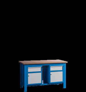 HWB MB 1500 CDCD | Pracovný stôl so skrinkou a zásuvkou na oboch staranách