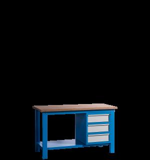 HWB MB 1500 D3 | Pracovný stôl s tromi zásuvkami