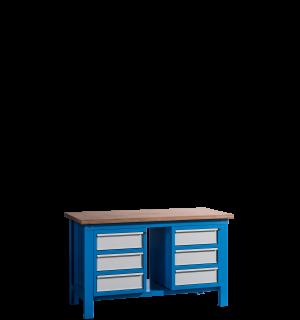 HWB MB 1500 D3D3 | Pracovný stôl s 3 zásuvkami na oboch stranách