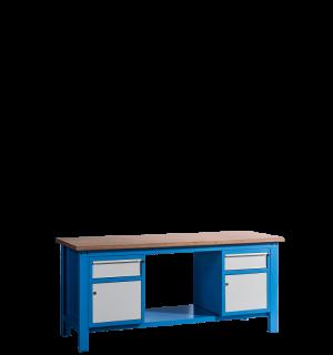 HWB MB 2000 CDCD | Pracovný stôl so skrinkou a so zásuvkou na oboch stranách
