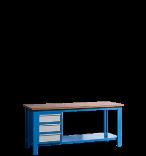 HWB MB 2000 D3 | Pracovný stôl s tromi zásuvkami
