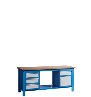 HWB MB 2000 D3CD | Pracovný stôl so skrinkou so zásuvkou a tromi zásuvkami