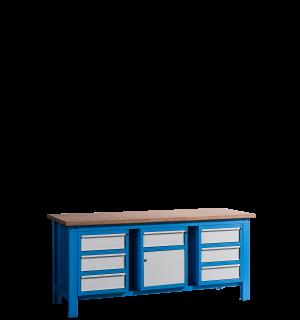 HWB MB 2000 D3CDD3 | Pracovný stôl s 3 zásuvkami na oboch stranách, v strede skrinka so zásuvkou