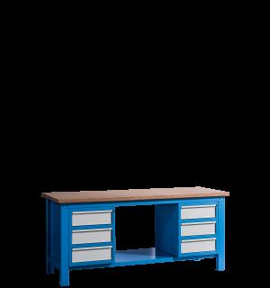 HWB MB 2000 D3D3 | Pracovný stôl s 3 zásuvkami na oboch stranách