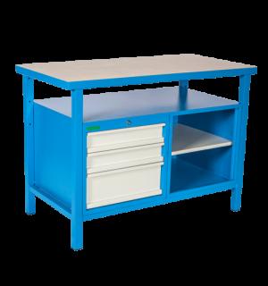 LWB GE 1200 SD3 | Pracovný stôl s poličkou a tromi zásuvkami