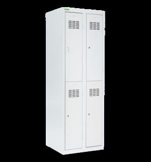 LOCKER H 2/4 |  4-dverová šatníková skriňa s krátkymi dverami