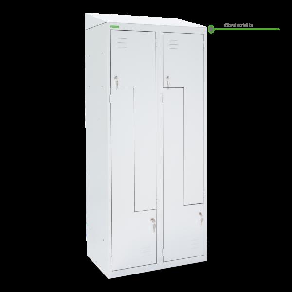 LOCKER H Z4 400 | 4-dverová šatníková skriňa so Z-kovými dverami