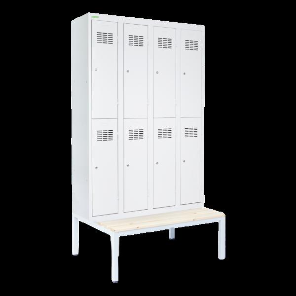 LOCKER H 4/8   8-dverová šatníková skriňa s krátkymi dverami