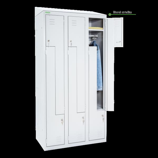 LOCKER H Z6 300   6-dverová šatníková skriňa so Z-kovými dverami