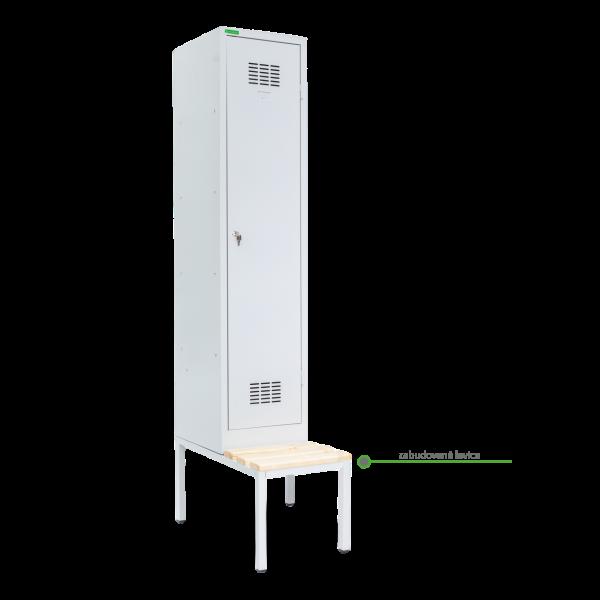 LOCKER H 1 BW | 1-dverová šatníková skriňa s prepážkou