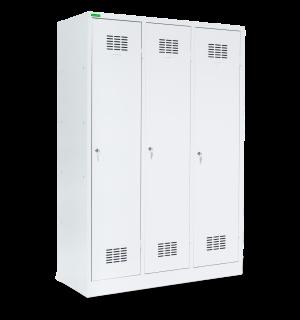 LOCKER H 3 BW | 3-dverová šatníková skriňa s prepážkou