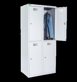 LOCKER M 2/4 400 | 4-dverová šatníková skriňa s krátkymi dverami