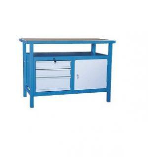 LWB GE 1200  CD3 | Pracovný stôl s poličkou a skrinkou a tromi zásuvkami