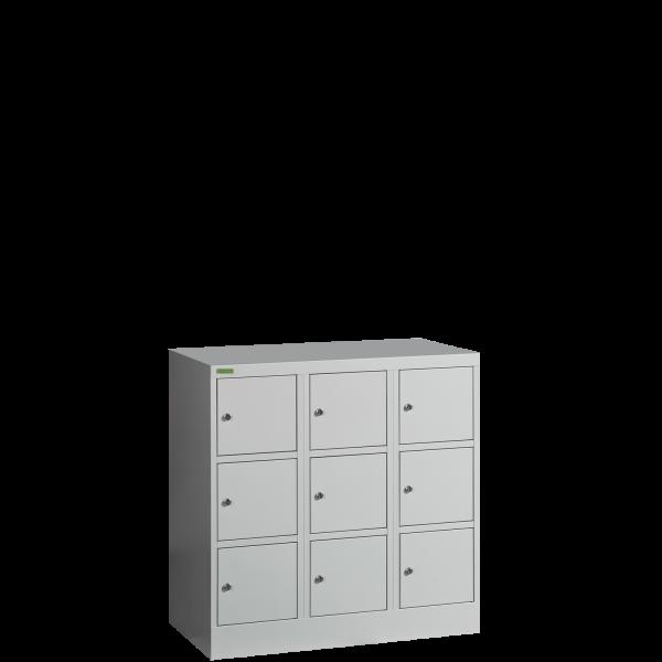 VBOX MB 3/9 MINI   9-priehradková nízka skriňa na úschovu cenností