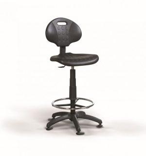 WORKSEAT AN CLASSIC HIGH F | Zvýšená priemyselná stolička s kruhovou opierkou a na klzákoch