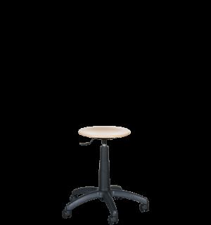 WORKSEAT AN TABU WOOD R | Priemyselná stolička drevená na kolieskach