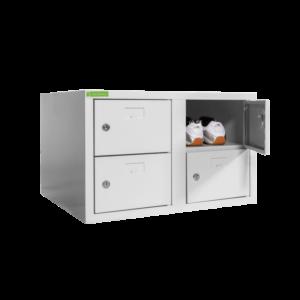 SHOEBOX H 2/4 400 | 2+2-dverová skriňa na obuv so šírkou priehradky 400 mm