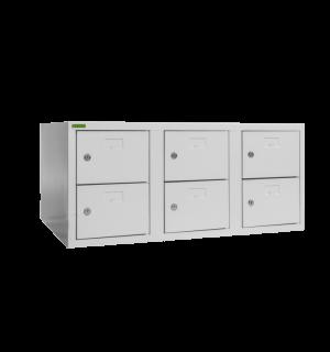 SHOEBOX H 3/6 400 | 3+3-dverová skriňa na obuv so šírkou priehradky 400 mm