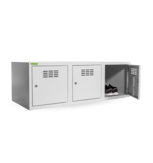 SHOEBOX H 3 400 | 3-dverová skriňa na obuv so šírkou priehradky 400 mm