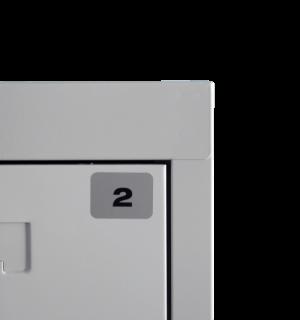 STICKER MB 1-1000 | Samolepka na číslovanie skríň 1-1000