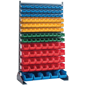 SORTISTAND FIX MB 113   Pevný stojan s plastovými boxmi