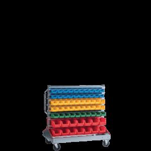 SORTISTAND ROLL 128 | Stojan na kolieskachh s plastovými boxmi