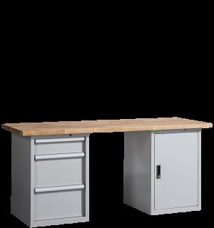 VWB PK 2000 CD3 | Pracovný stôl so skrinkou tromi zásuvkami