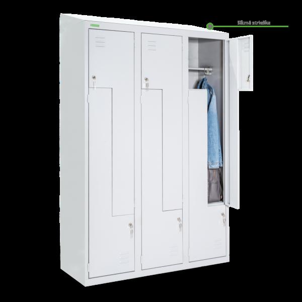 LOCKER H Z6 400 | 6-dverová šatníková skriňa so Z-kovými dverami so šírkou 400 mm