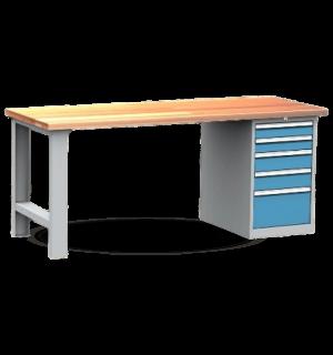 A-WB K 2000 5DR   Montovaný pracovný stôl s 5 zásuvkovým kontajnerom