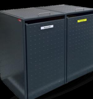 BINCAGE 2 | Kovové kontajnery na separovaný zber odpadu na 2 koše