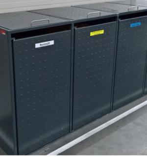 BINCAGE 4 | Kovové kontajnery na separovaný zber odpadu na 4 koše