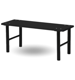 BRIDGE BK 1500 FULL | Šatníková lavica s čiernym laminátom