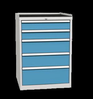 CONTI K 1030/720/700 RS 5D 5012 | 5-zásuvkový dielenský kontajner s gumeným povrchom