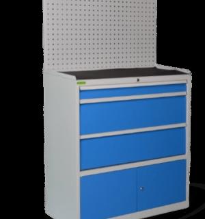 CONTI 1800/1000 3DC W  | 3-zásuvkový dielenský kontajner so zadnou stenou a skriňou