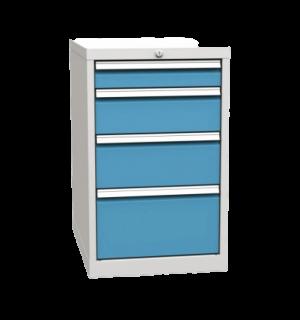 CONTIWB K 810/500/700 4D 5012 | 4-zásuvkový dielenský kontajner k pracovným stolom