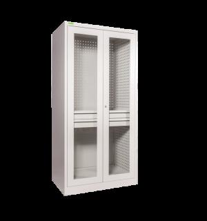 DEEPCAB K 2000/1000 PERFBACK G GY  | Dielenská skriňa s extra hĺbkou, presklenými dverami