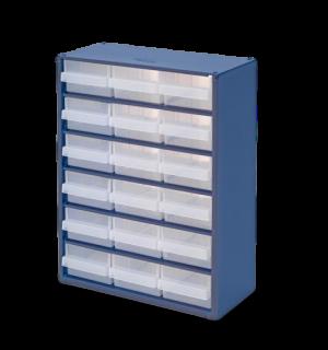 DRAWERBOX AP 18  | Skrinka s 18 plastovými zásuvkami