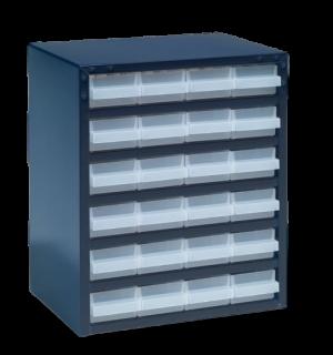 DRAWERBOX AP 24  | Skrinka s 24 plastovými zásuvkami