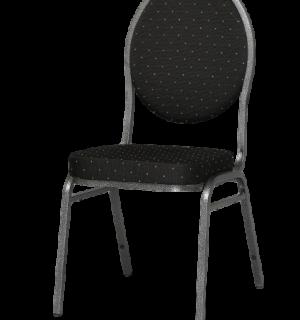HALLSEAT MX ROUND AT/BK | Stuhl mit anthrazitem Metallgestell und schwarzer Bezug