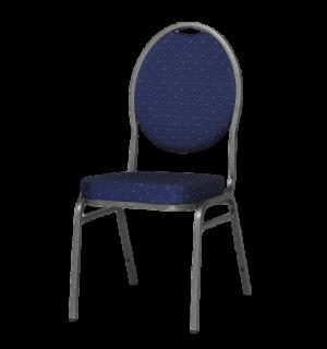 HALLSEAT MX ROUND AT/DBE | Stuhl mit anthrazitem Metallgestell und roter Bezug
