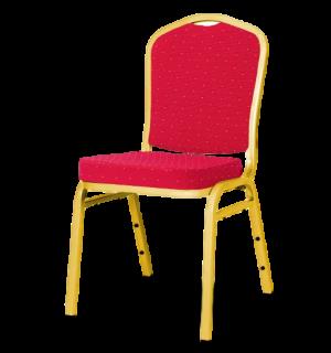 HALLSEAT MX SMOOTH GD/RD  | Stolička so zlatým rámom a červeným poťahom
